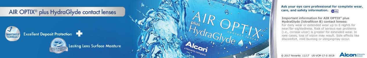 Air Optix HydraGlyde banner